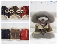 Suede composite fabrics Association measured with zipper medal Locomotive style Pet coat Dog clothes