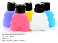 Free shipping Nail art Bottles,Lovely car  Pressure Bottle/plastic pressure bottle ,make up remover bottle