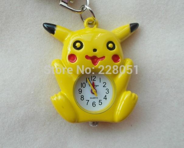Pretty Pikachu Quartz cartoon Pocket watches Necklace Watches keychain ...
