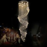 Free shipping new item Modern led crystal light chandelier D80*H250cm spiral design lustres de cristal home lighting