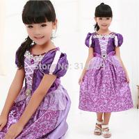 Halloween Girls Rapunzel Tangled Princess Dress Cosplay Costume