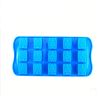 Home Kitchen Silicone Square 15 Christmas tree grid lattice  Mini maker Make  toxic Homemade ice cube pack ice mold