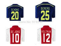 Customize! 14/15 season Ajax jersey top quality soccer uniforms Size S-M-L-XL