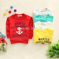 Fashion letter boys long sleeve T-shirt,S-XL,1pcs/iots,Free shipping