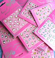 25 sheets assorted Mixed all hello kitty different 3D Modelling Nails Art Stickers Decals For nail art false nail decoration