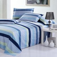 Vogue Home Bedding Stripe Floral Single/Full/Queen/King 100% Cotton Flat Sheet  Drop Shipping