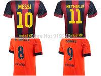Customize! 14/15 season A.INIESTA jersey top quality soccer uniforms Size S-M-L-XL