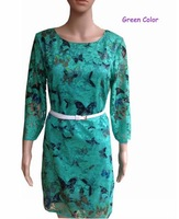 zhang  summer Plus Size runway cocktail novelty dress Butterfly Print Sexy lady Embroidery Lace mini Dresses LYQ001