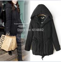FACTORY SALE ! Women winter cotton-padded coat Medium-long wadded jacket Fashion winter outwear CL686