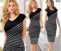 5830 free shipping summer dress 2014 New Fashion Womens Elegant Slim Sexy Dress Evening Party Dress casual dress