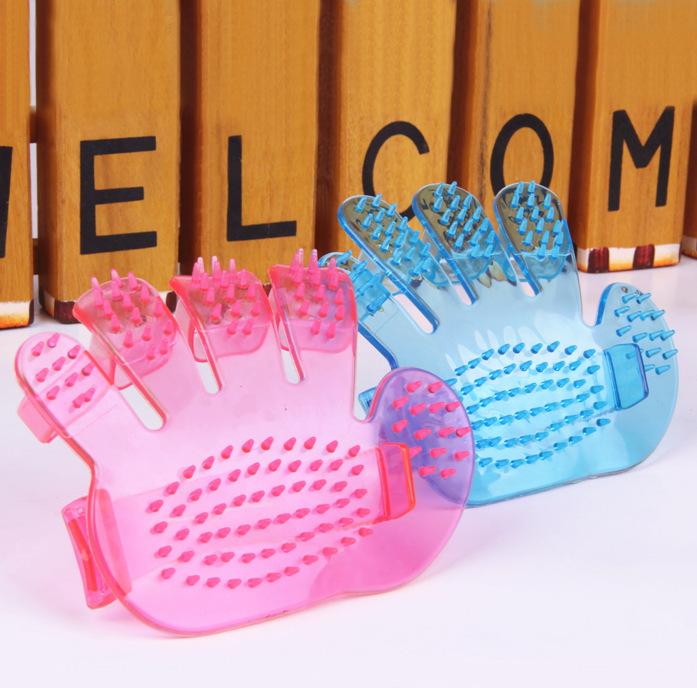 Pet Fingers type bathe brush pet brush pet brush pet supplies palm brush Puppy Combing Dog Cleaning Supplies(China (Mainland))