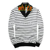 New 2014 Fall Winter Blusas Masculinas Men Pullover sweater Casual Fashion Stripe Zipper Slim Men Pullover sweater Free Shipping