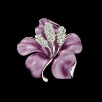 High-end handmade rhinestone brooch large flower corsage elegant noble temperament crystal wholesale jewelry