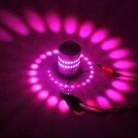 Fashion Romance Round Porous Sconce Background light 1W LED Wall Lamp Hall Bar Decor Fixture LEDSD070 Pink Light