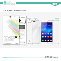 For Huawei Honor 6 Original Nillkin brand HD Anti-fingerprint Clear Screen Protector suit for Huawei Honor6 include front back