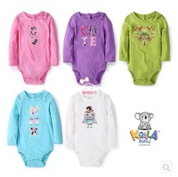 Retail, Koala Baby Girls Embroidered Long Sleeve Princess Bodysuit ,Girls Cute Roomper Freeshipping