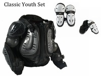 Free shipping 2014 New Design Kids full set  off-road racing motorcycle road traing suit knee guard +elbow guard+body armor