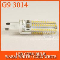 10pcs/lot LED Bulb lamp SMD 3014 G9 6W 64LED 9W 96LED 10W 104LED Corn Light 220V 360 Degree Replace Halogen Lamp
