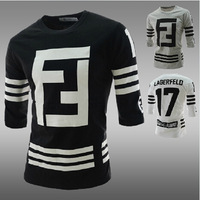 Autumn New Design Men's Thicken Long Sleeve Casual Active Baseball T-Shirt Worlds O-Neck Color printed men t-shirt