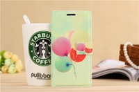 colorful balloon Design Cartoon style Flip Cover with card packet stand Case for Xiaomi M4 mi4  Free shipping