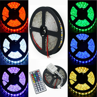 2014 Popular 5M 5050 SMD IP65 Waterproof 60Led/M Strip String Light Tape Roll + 44 Key Remote Control, Free Shipping