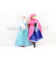 33cm Frozen Doll 2pcs Set High Quality Elsa and Anna Frozen Princess Classic Toys SX-FZ008 Free Shipping