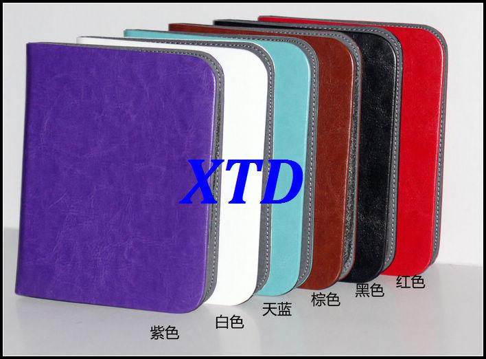 "Retro Fabric Premium Crazy Horse PU Leather Lining Velvet Folio Ultra thin Case Cover For Barnes&Noble NOOK 2/3 6"" E-reader(China (Mainland))"