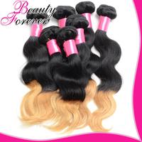 Beauty Forever 100% Ombre Human Hair Extensions 4Bundles/Lot Peruvian Virgin Hair Body Wave Ombre Virgin Hair Weaves BFTBW004