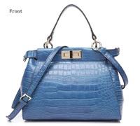 New fashion crocodile embossed leather bags handbags women same European famous brands