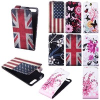 New Fashion Plum Flowers Printed Stained Vertical Flip Case Cover For HuaWei Ascend G6 Card Slot Wallet Butterfly Phone Case