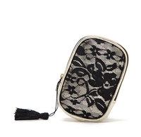 Elegant Women Lace Coin Bags Fashion Tassel Phone Bag Women's Handbags Small Purse Fringe Bolsas Free Shipping WJ1045