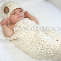 Handmade crochet knitted Newborn baby cocoon and hat set This baby set is from a smoke free and pet free home