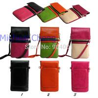 2014 NEW Hot Women's Mini Crossbody Messenger Bag Wallet Handbag Phone Card Purse Small Shoulder Bag Leather with Strap