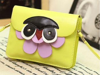 бесплатно кораблей! 2014 новых конфеты цвет мода девушки и женщины мини сова плеча сумку милый мешок телефона портативный пакет