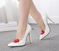High heels thin heels princess single shoes women's shoes big red pumps wedding shoes free shipping