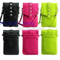 2014 New Women's Mini Phone Card Purse Crossbody Messenger Small Handbag Shoulder Bag Outdoor Travel Black Red Yellow