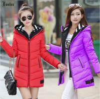 Lanluu Hot Sales 2014 New Winter Jackets Plus Size Women Down Coats Female Parkas NM586
