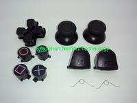 free Shipping Black Replacement Full Set Replacement Buttons For PlayStation 4 Controller DualShock 4 L2 R2