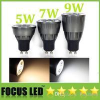 Wholesale - 60 Beam Angle 5W COB Led Lights GU10/E27/MR16 Warm/Cool White Led Spot Bulbs Lights Dimmable/Non 110-240V +CE ROHS C