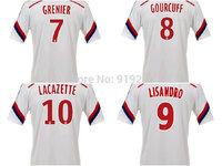 Customize! 14/15 season Lyon jersey top quality soccer uniforms Size S-M-L-XL