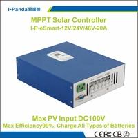 Esmart MPPT solar controller  48V 20A  eSmart 20A 48V  12V 24V 48V auto work Gel Vented NiCd etc esmart-20A