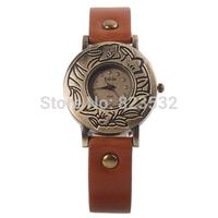 Fashion lady watch,sport girls luxury dress Wristwatch,quartz restore ancient ways leather watches,female clock gift