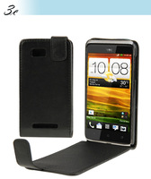 20 pcs Case for HTC Desire 400 Free SHipping Black Vertical Flip Leather Case Cover