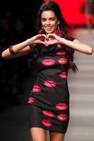 2014 New Women  Bodycon Mini Dress Red Lips Print Dress Sleeveless Brief Cute  Celebrity DressesLC21613