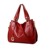 Women's bags 2014 fashion big bucket women's bag genuine leather handbag laptop messenger bag