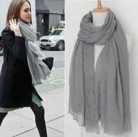 spring autumn and winter female fashion solid color scarf hemp cape long tassel design 90g