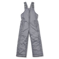 Child thickening thermal autumn and winter gray suspenders body cold-proof skiing waterproof long trousers