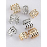 Hot sell! Fashion punk metal repossi classic full rhinestone joints of the trend of the female ring accessories free shipping