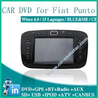 Car dvd for Brazilian fiat punto linea BLUE ME GPS DVD BT RADIO USB AUX SD IPOD audio video player Free shipping  1393
