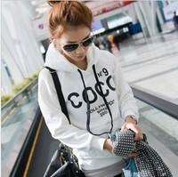 Plue Size !Hot sale! Women's Hooded Sweatshirts Outwear COCO Hoodies Women Ladies fashion cartoon Coat Winter clothes M,L
